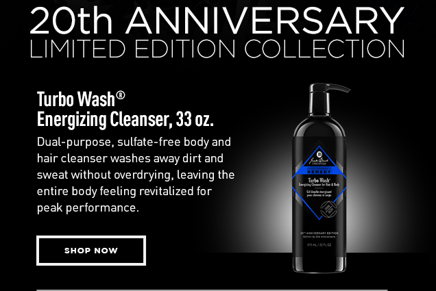 Turbo Wash™ Energizing Cleanser, 33 oz. Dual-purpose, sulfate-free body and hair cleanser washes away dirt and sweat without overdrying, leaving the entire body feeling revitalized for peak performance. Shop Now